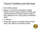 transit facilities and services155