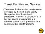transit facilities and services35