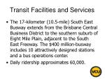 transit facilities and services72