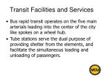transit facilities and services78