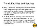 transit facilities and services86