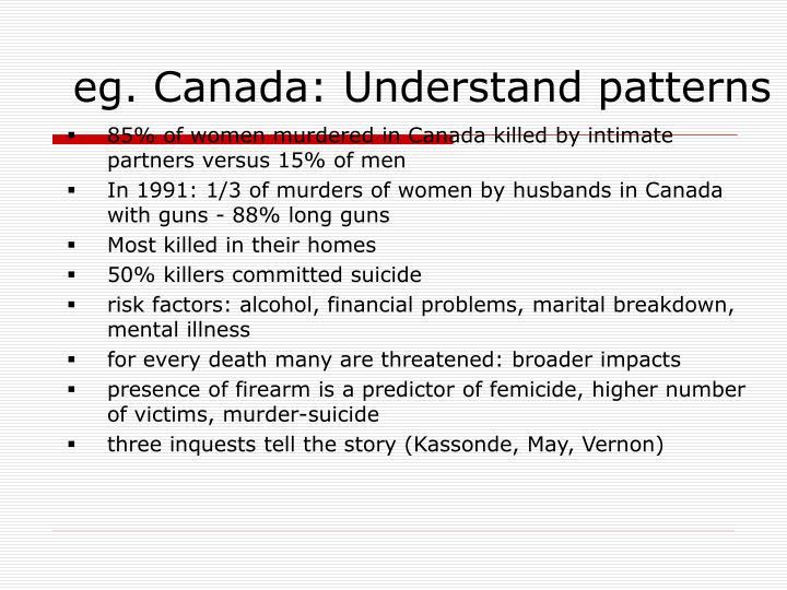 eg. Canada: Understand patterns