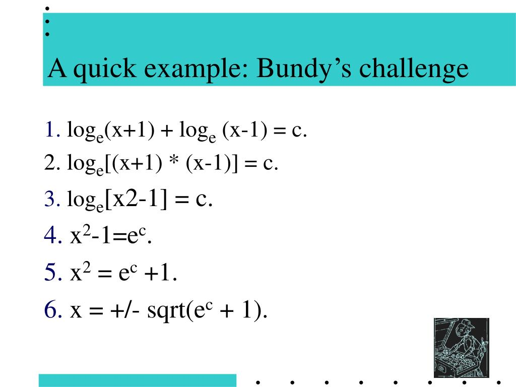 A quick example: Bundy's challenge
