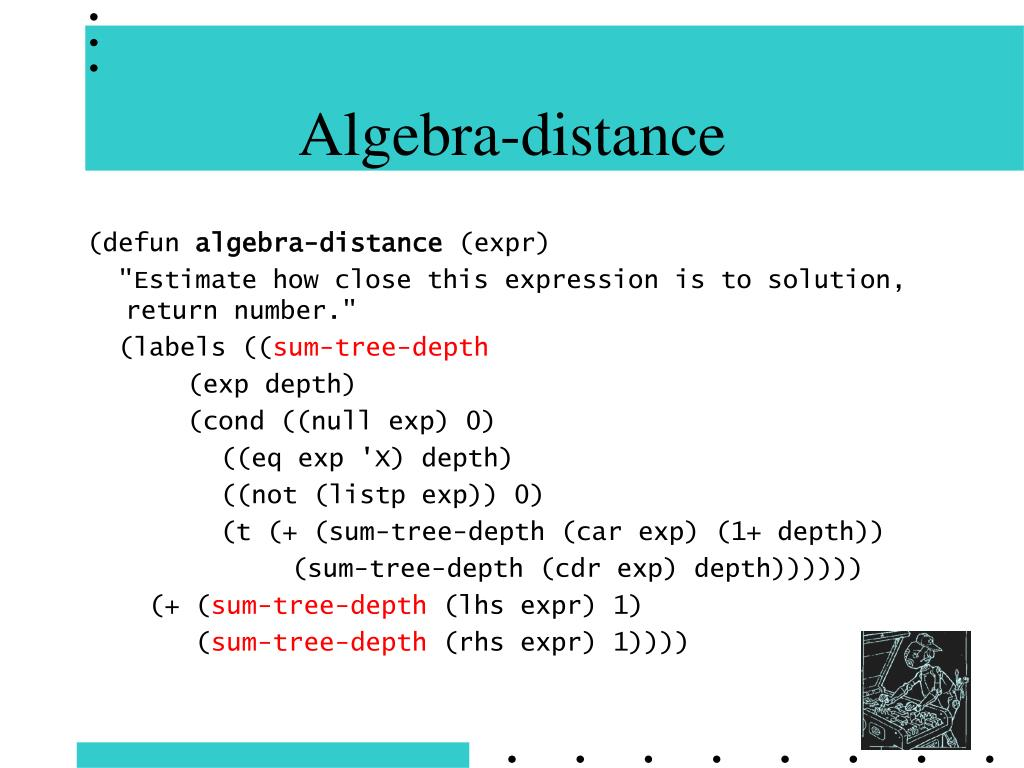Algebra-distance