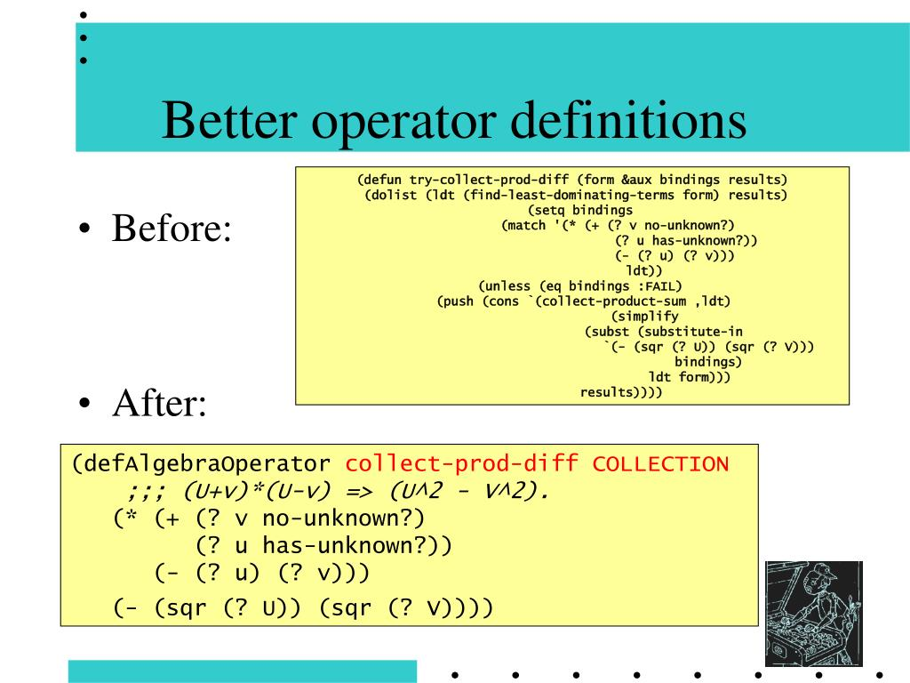 Better operator definitions
