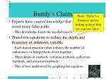 bundy s claim
