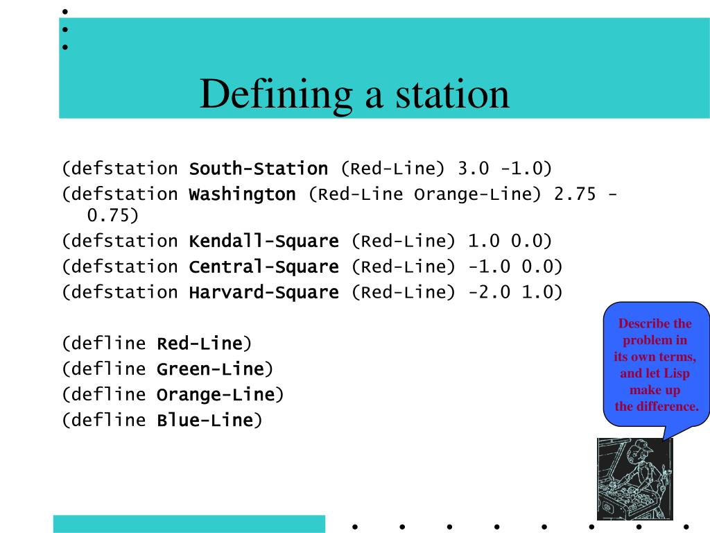 Defining a station