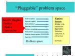pluggable problem space57