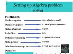setting up algebra problem solver59