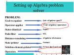 setting up algebra problem solver73