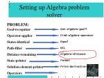 setting up algebra problem solver80