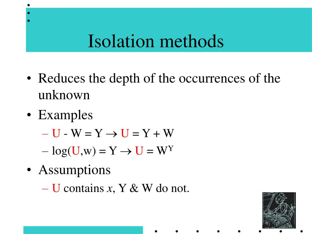 Isolation methods