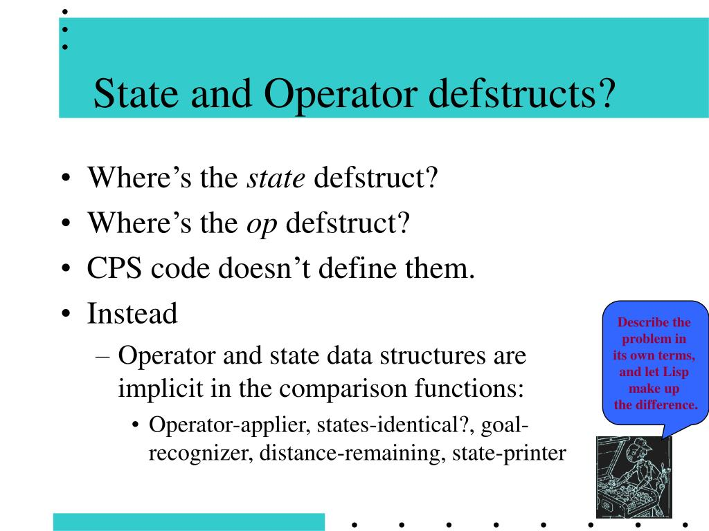 State and Operator defstructs?