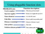 using pluggable function slots