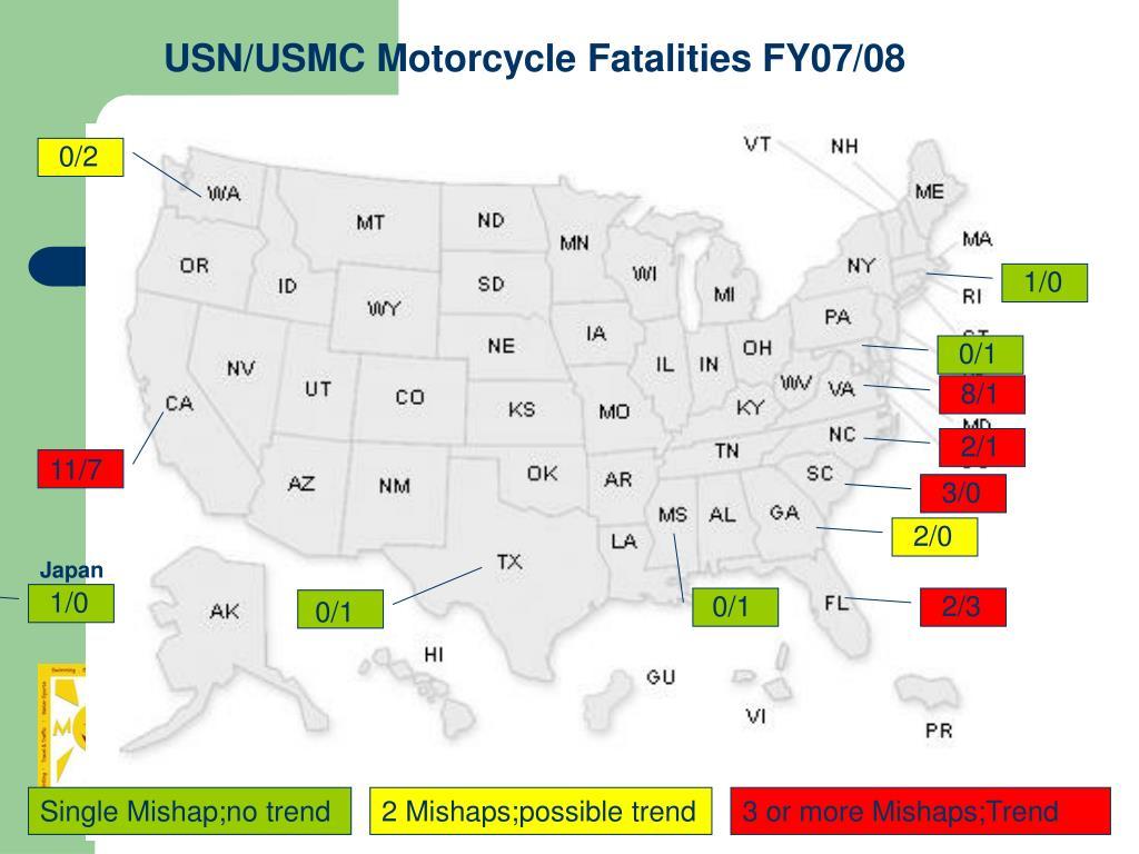 USN/USMC Motorcycle Fatalities FY07/08