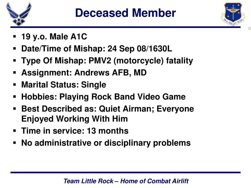 Deceased Member