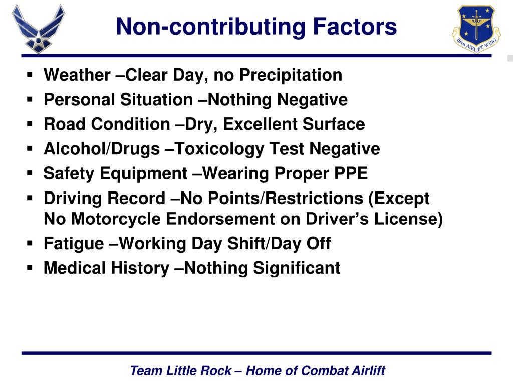 Non-contributing Factors