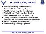 non contributing factors