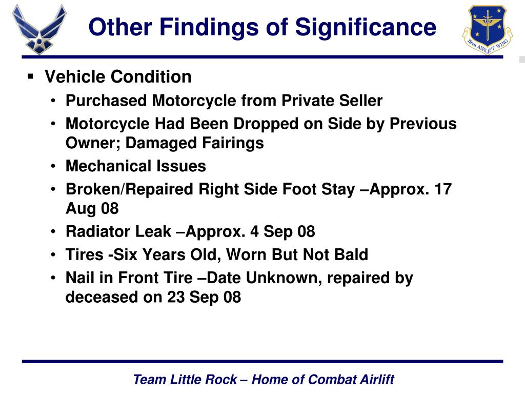Other Findings of Significance