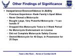 other findings of significance9