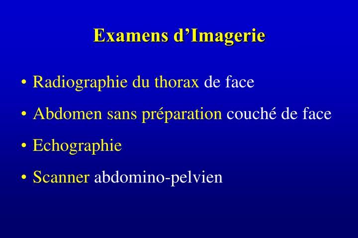 Examens d'Imagerie