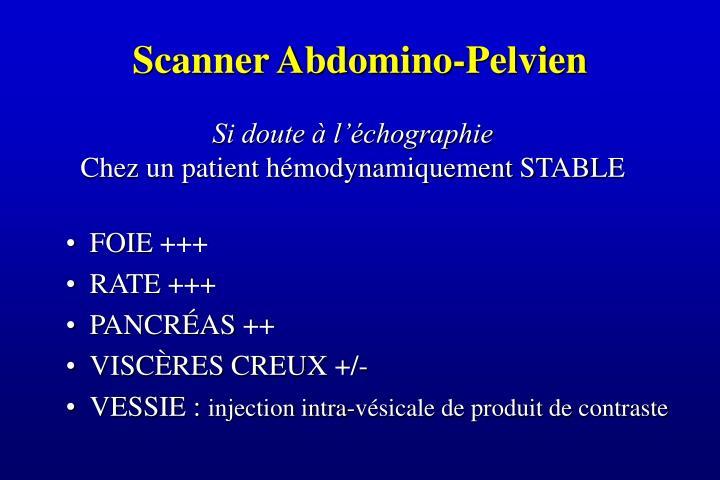 Scanner Abdomino-Pelvien