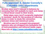fully approved e sander connolly s columbia univ experiments