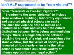 isn t alf supposed to be non violent
