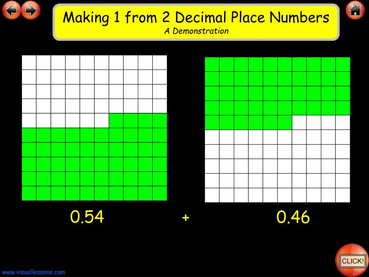 Making 1 from 2 Decimal Place Numbers