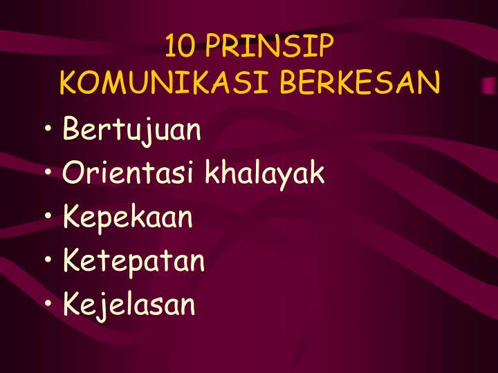 10 PRINSIP