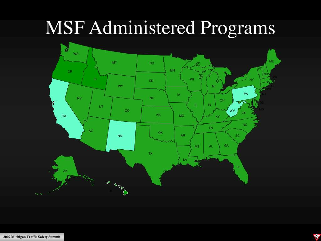 MSF Administered Programs