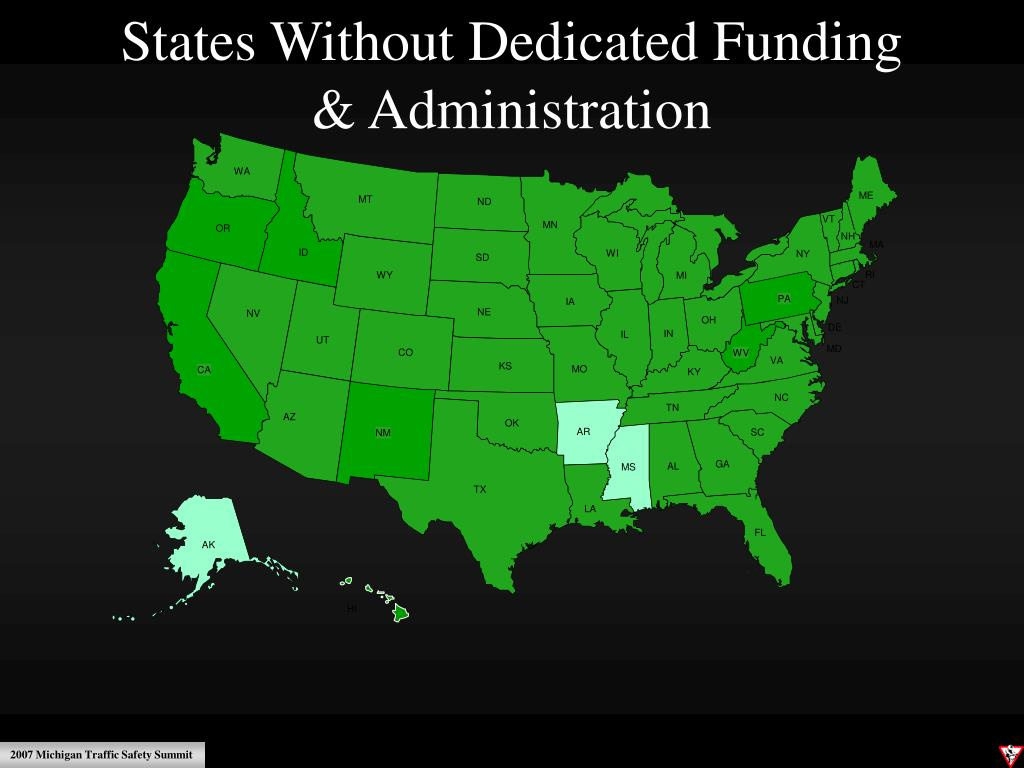 States Without Dedicated Funding                                             & Administration