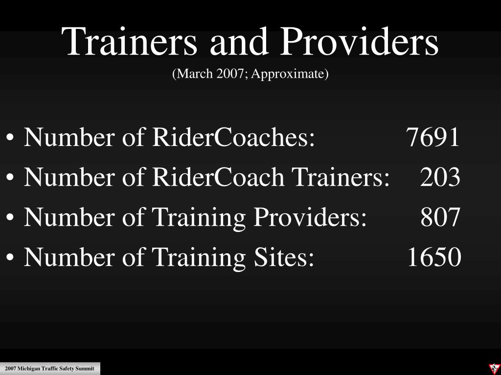 Trainers and Providers