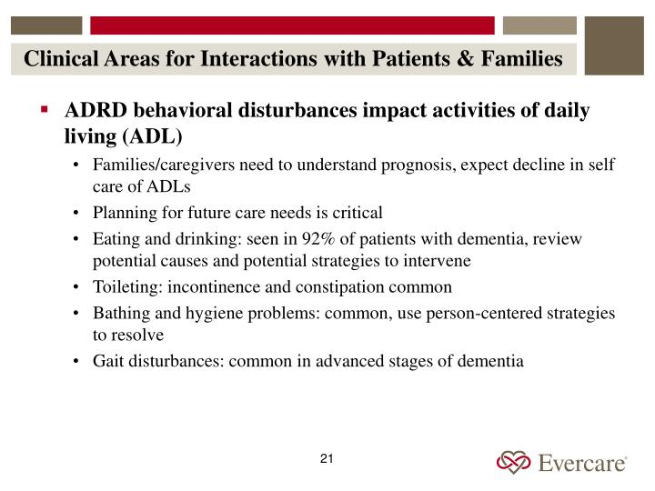 Clinical Areas for Interactions with Patients & Families