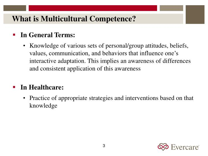 What is multicultural competence