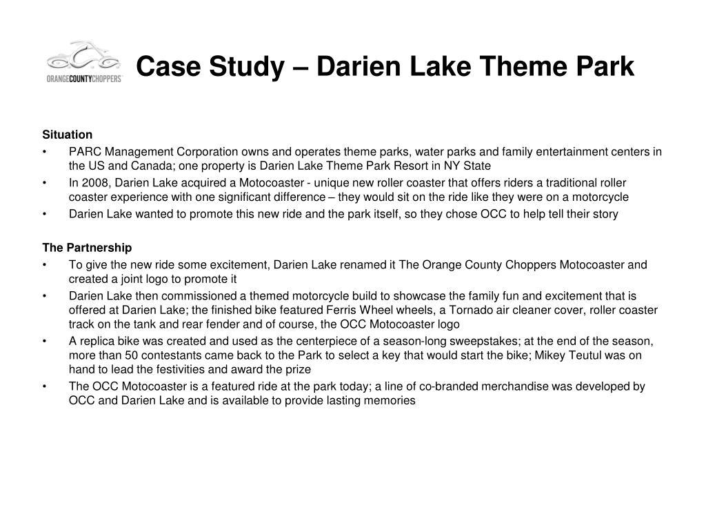 Case Study – Darien Lake Theme Park