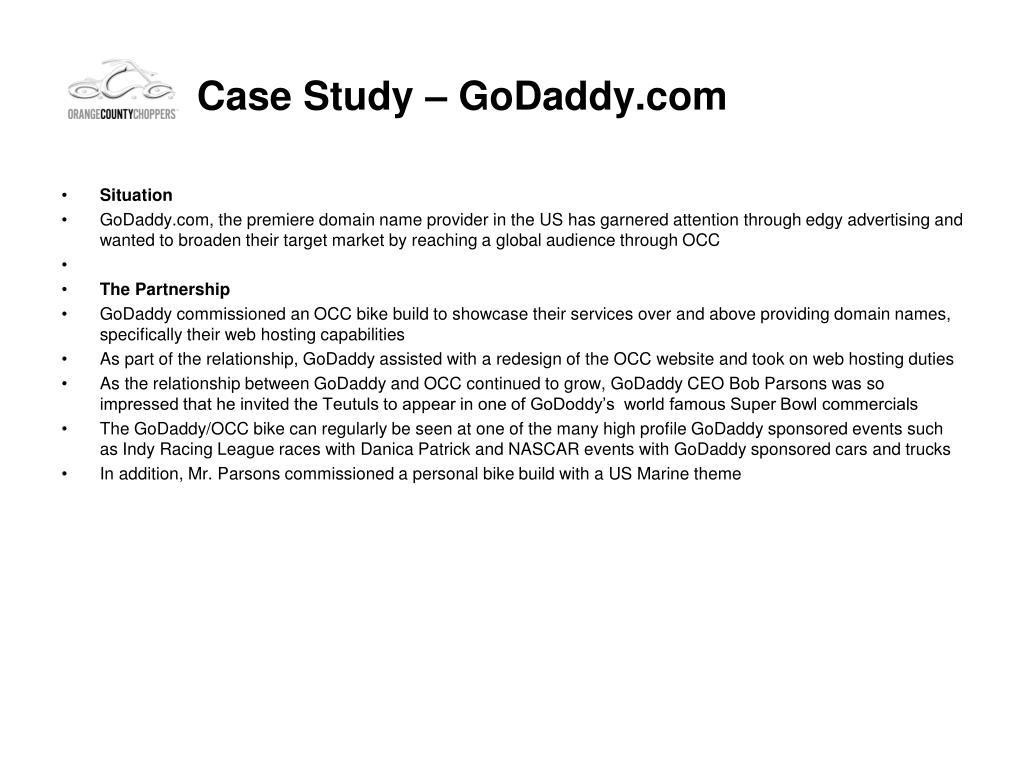 Case Study – GoDaddy.com