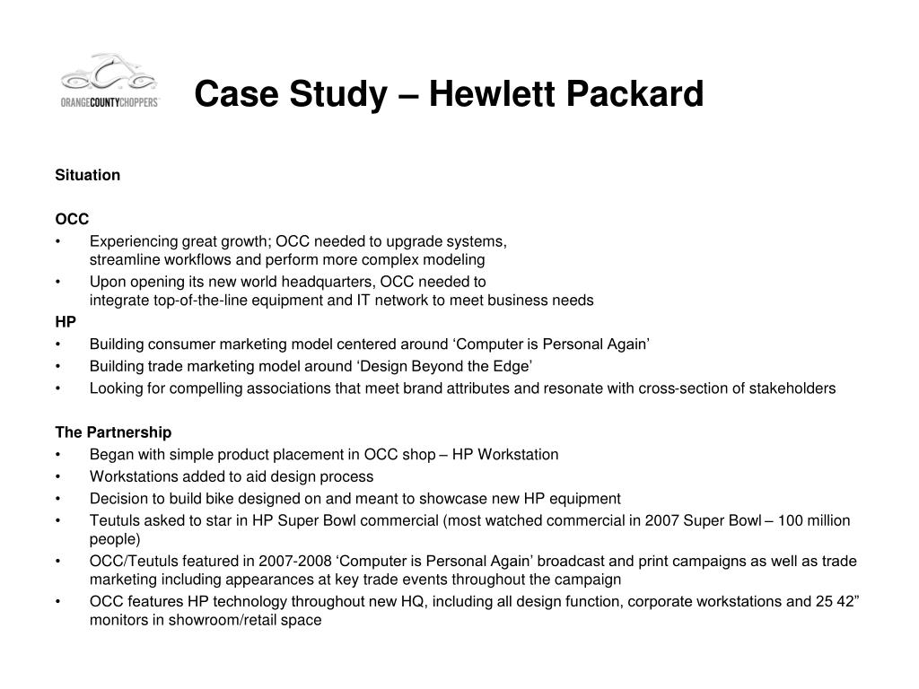 Case Study – Hewlett Packard