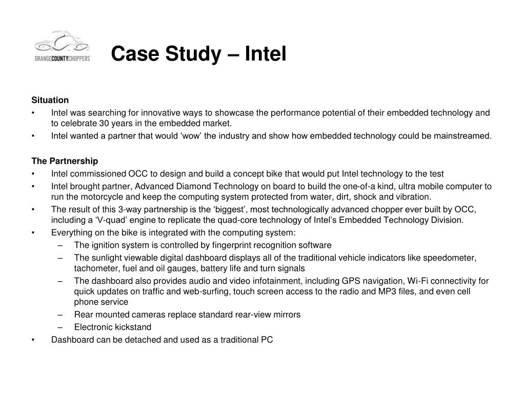 Case Study – Intel