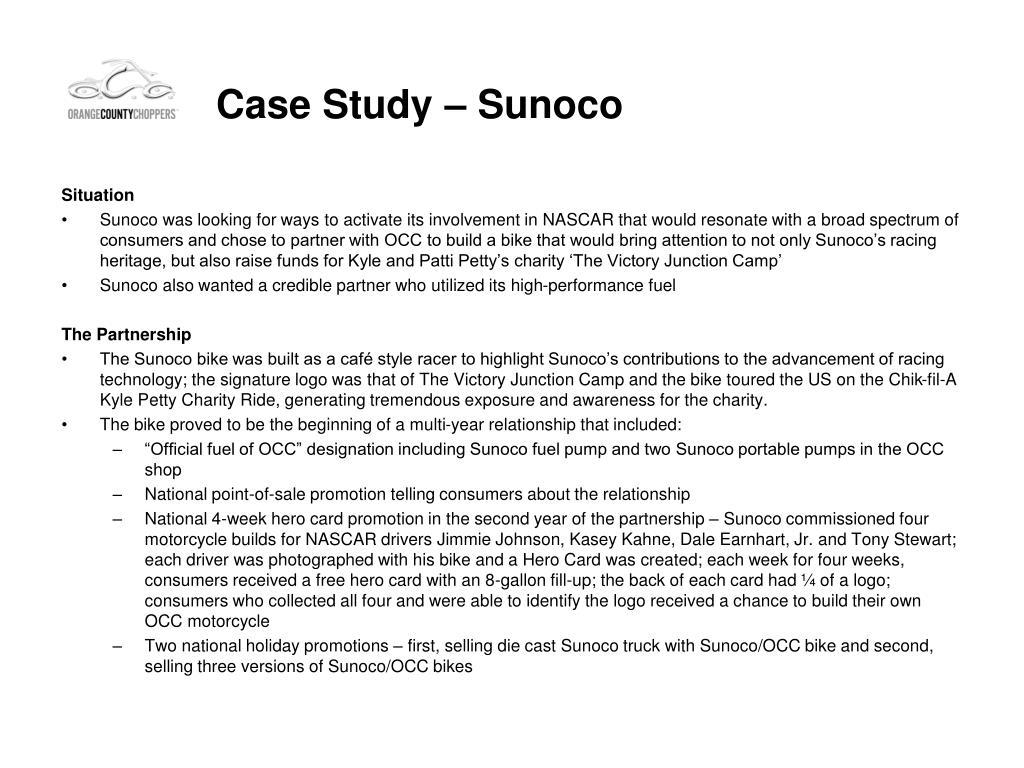 Case Study – Sunoco