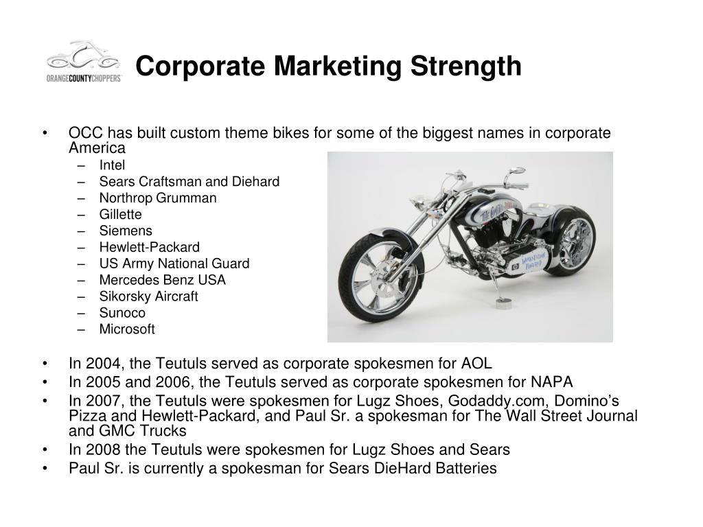 Corporate Marketing Strength