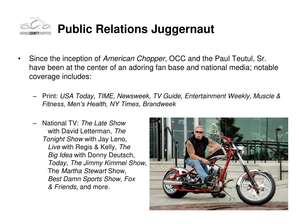 Public Relations Juggernaut