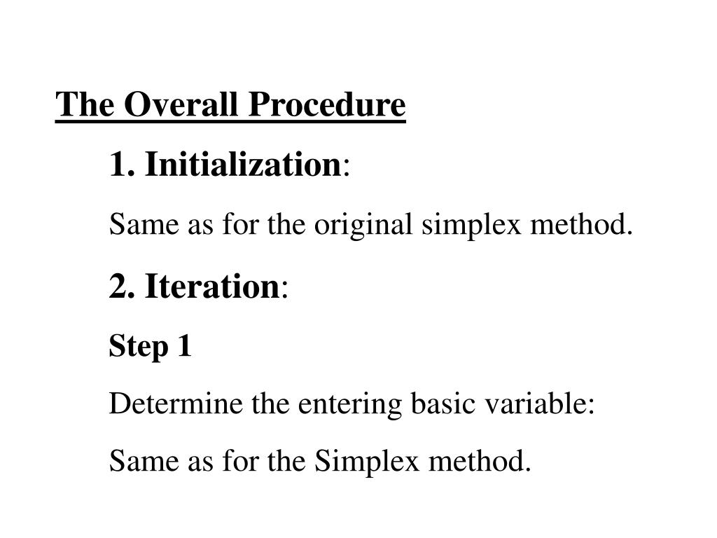 The Overall Procedure