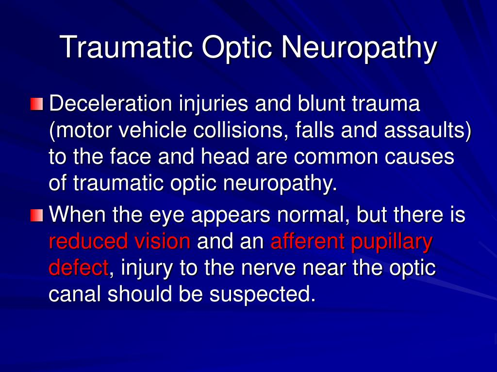 Traumatic Optic Neuropathy