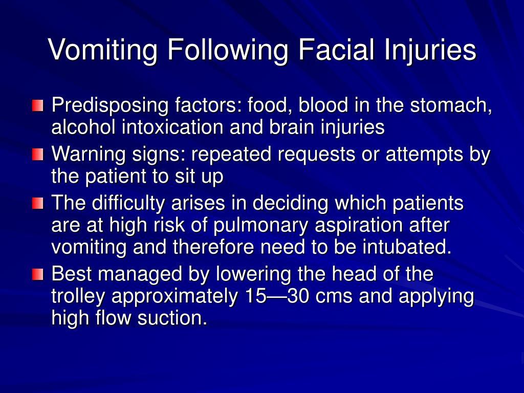 Vomiting Following Facial Injuries