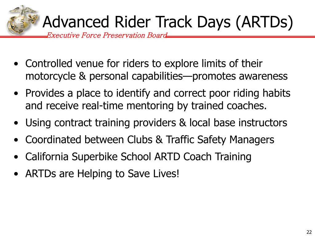 Advanced Rider Track Days (ARTDs)