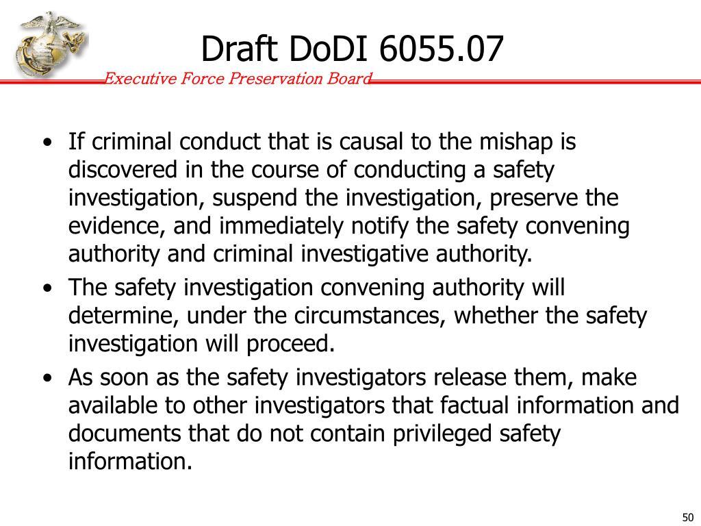 Draft DoDI 6055.07