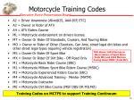 motorcycle training codes