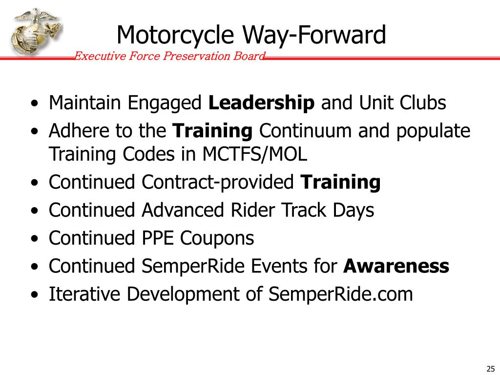 Motorcycle Way-Forward