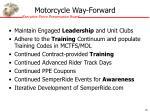 motorcycle way forward